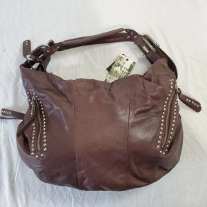 b. makowsky Brown Leather Handbag NWT!